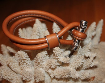Vintage Leather Double Leather Wrist Band