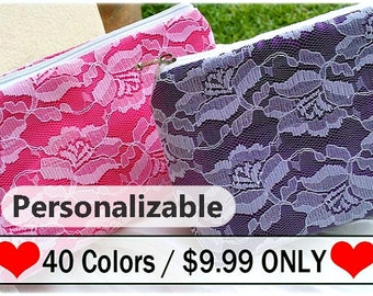will you be my bridesmaid, lace bridal clutch , bridal purse ,bachelorette gift for bride, gift for bride to be, bridesmaid gift 40 colors