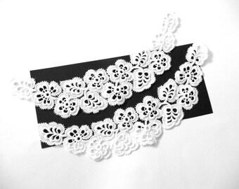 Vintage New Lace Collars White Cotton Guipure Lace