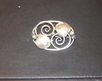 Danish sterling silver pin