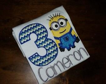 Boy Minion birthday shirt