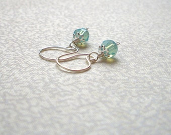 Susan -  Mint Green Earrings, Made to Order