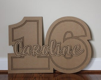 Custom Name and Number Guestbook