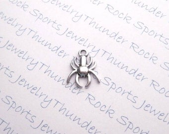 20 Antique Silver Spider Charms Insect Pendants