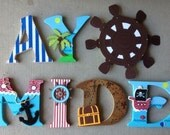 Pirate Letters, Wooden Pi...
