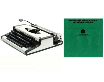 Olympia SF Portable Typewriter Instruction Manual Instant Download