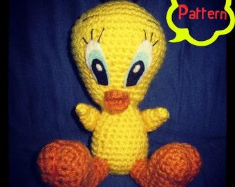 PATTERN: Tweety Bird Amigurumi crochet doll