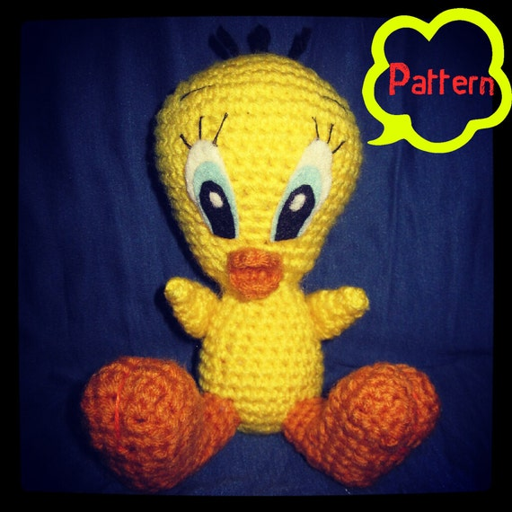 Amigurumi Tweety Bird : PATTERN: Tweety Bird Amigurumi crochet doll