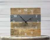 ORIGINAL Reclaimed Pallet Wood Wall Clock (Grizzle Gray)