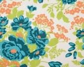 Joel Dewberry Fabric - 1 Metre FLORA, Rose Bouquet in Carrot