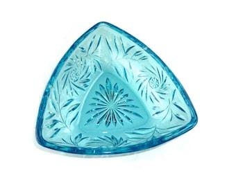 Vintage Hazel Atlas Pinwheel Candy Dish Azure Blue