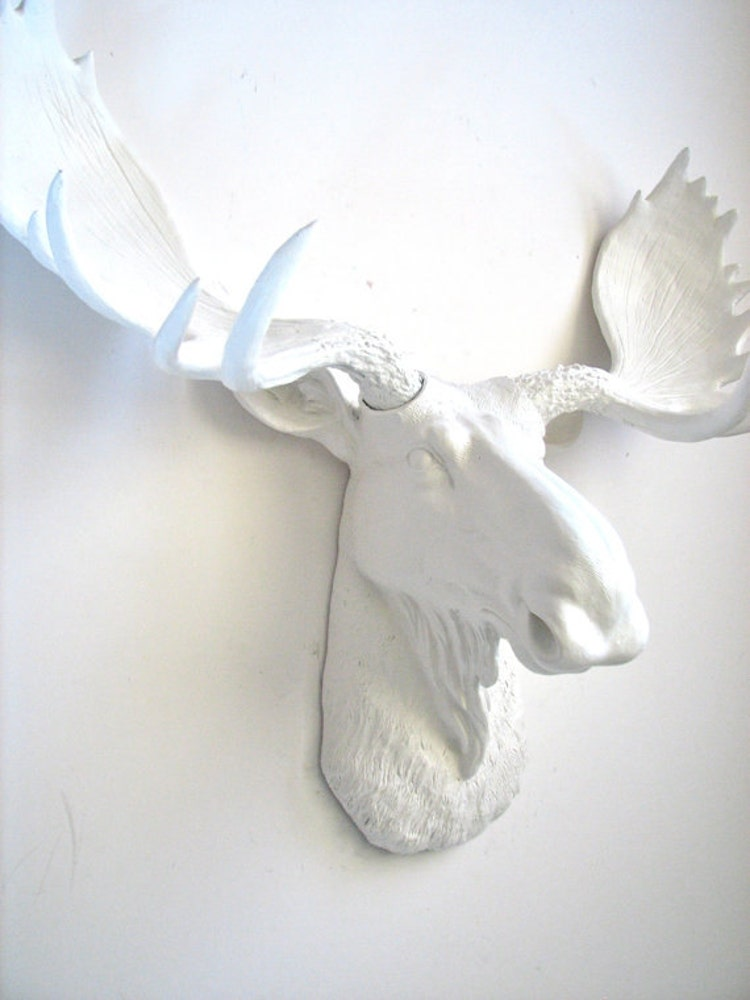 Faux taxidermy moose head wall hanging wall decor by mahzerandvee - Fake stuffed moose head ...