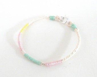 Rope bracelet pastel