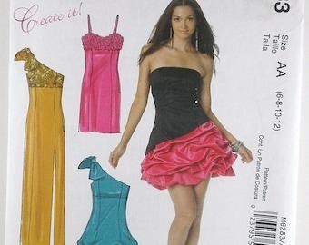 Misses Lined Dress McCalls Pattern M6283 Bridesmaid Dress Mother of the Bride Groom Dress Evening Formal Dresses Long Short Dress Destash