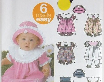 Baby Girls Toddlers Dress Simplicity Pattern 5626 Designed by Karen Z Dress Pantaloons Panties and Hat  Summer Dress  Destash Craft Supply