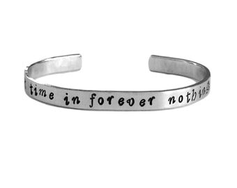 For the First Time in Forever Cuff Bracelet - Frozen Inspired Bracelet