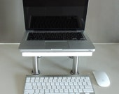 NORDIC STYLE WOODEN Handmade with White Rim Laptop / Notebook / Monitor Stand 02
