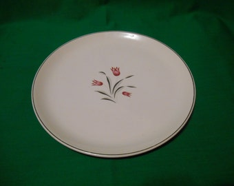 """One (1), 10 1/4"""" Dinner Plate, from Salem China, in the Tulip Time Pattern."""