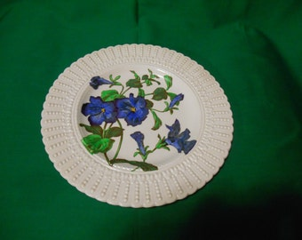 "One (1), 9 3/4"" Luncheon Plate, from Cauldon, in the Flower Series."