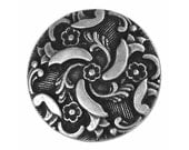 12 Twirling 3/4 inch ( 20 mm ) Metal Buttons Silver Color