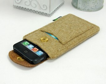 15%OFF!Felt iPhone 7 Plus iPhone 5 5S 5c 4s Sleeve Wallet Samsung Galaxy S5 S6 Note2 Note3 Note 4 Case Pouch with Brown Leather Flap E2018