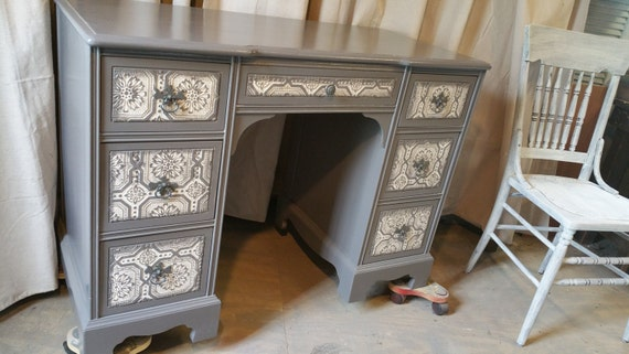 Painted Desk items similar to sold painted desk vanity table dresser painted