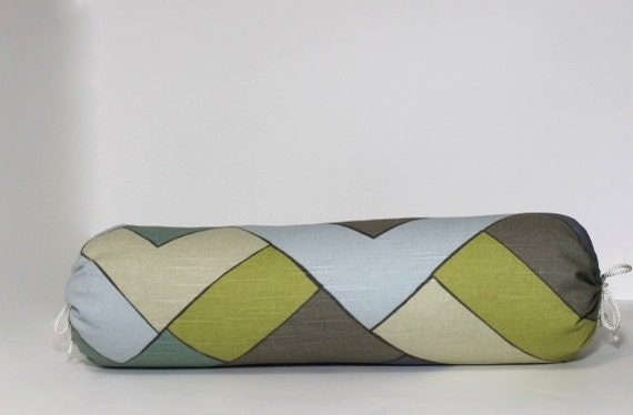 Decorative Bolster Pillow Covers : Decorative Bolster pillow cover. Modern chevron pillow cover.