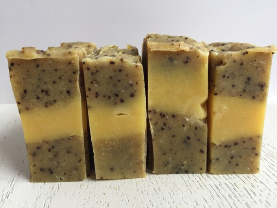 Kitchen/Garden Coffee Soap -  Gardener's Soap - Orange and Patchouli Kitchen/Garden all natural handmade soap - vegan - cold process