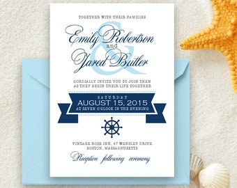 royal blue wedding invitations   etsy, Wedding invitations
