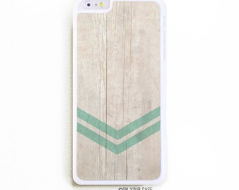 iPhone 6 Plus Case. iPhone 6+ Case. Geometric Minimalist 2 Mint. Phone Case. iPhone Case. Faux Wood Grain. Mint.
