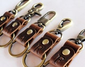Durable & Stylish Monogrammed Leather key chain/key fob/key ring