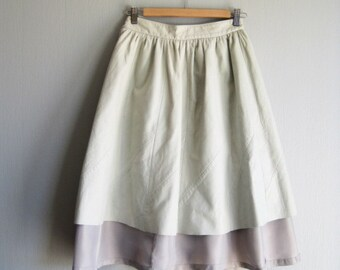Flare Leather Skirt, Swingy Leather Skirt XS -S, A Line High Waist Midi Skirt, Up cycled Clothing , Fritala Finland
