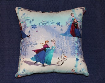 "Cushion cover print inspired by the Disney movie Frozen. 45cm X 45cm (approx 18"" X 18"") 100% cotton  hand made"