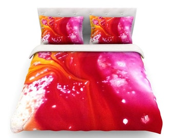 Red bedding, Duvet, Duvets, Red duvet, Pink duvet, Red duvets, Bedroom decor, Red and pink duvet cover, Red comforter, Interior design ideas