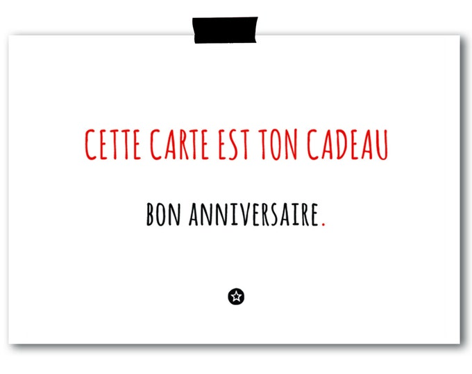 Card Cette Carte Est Ton Cadeau in French