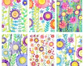 6 x A6 Floral Prints, Wild And beautiful, Watercolour Reproductions