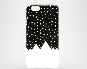 Snow Tops phone case, black and white iPhone 7 case, iPhone 7 Plus, iPhone SE, iPhone 6S, iPhone 6, iPhone 5S, iPhone 5, mountains case