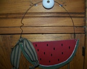 Primitive Wooden Watermelon Hanger/Greeter