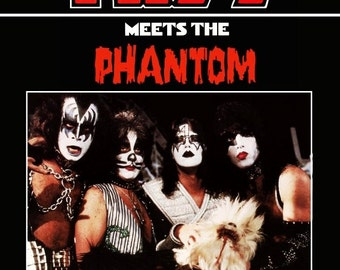 KISS Meets The Phantom Of The Park Stand-Up Display - Band Memorabilia Collectibles Collection Collector Movies Television Special Gift Idea