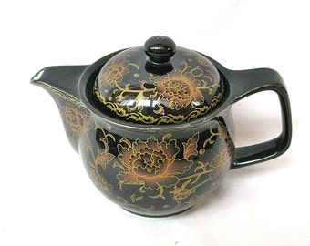 Vintage porcelain teapot Russian china 70s Not marked