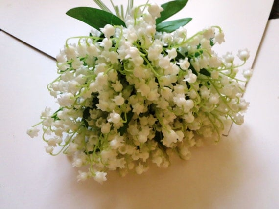 Lily Of The Valley Wedding Bouquet Groom Groomsman-Wedding