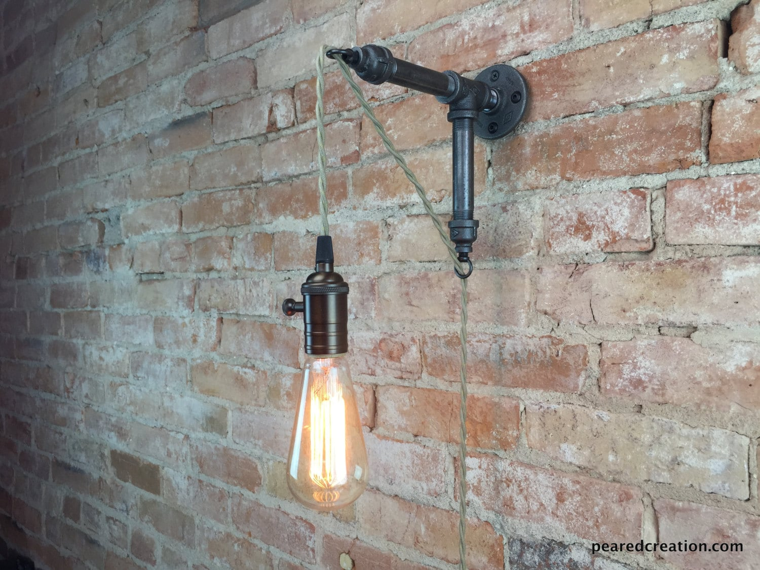 Industrial Pendant Wall Lights : Wall Sconce Industrial Lamp Pendant Edison Industrial