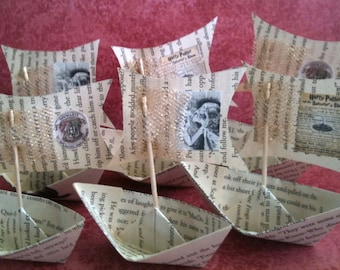Harry Potter Party Gift Hogwarts Boats Paper Boats Magic Spells Dobby Sailboat Nerd
