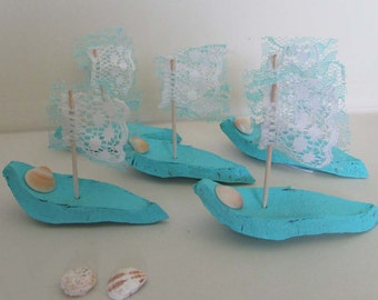 wooden boats husk lace sailing beach wedding cottage chic sail boat