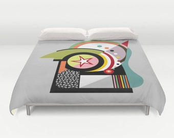 Colourful Beddings,Unique Bedding, Cute Bedding Duvet Cover, Queen Duvet Cover, Full Duvet Cover, King Duvet Cover, Bedroom Decor