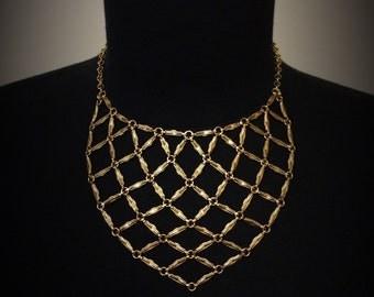 Chain Linked Bib Necklace