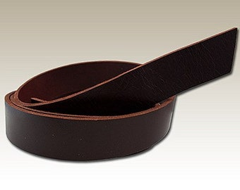 Mahogany Buffalo Hide Belt Strip - Genuine Leather #133-
