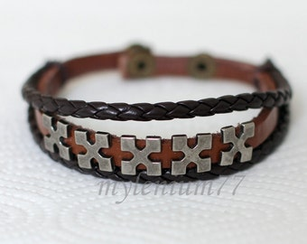206 Men bracelet Women bracelet Cross bracelet Bangle bracelet Leather bracelet Braided bracelet Woven bracelet Fashion bracelet