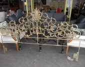 Vintage Hollywood Regency Wrought Iron Scroll Kingsize headboard on Hold