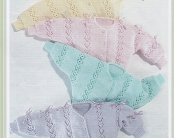 Knitting Pattern PDF Baby cardigans Instant download